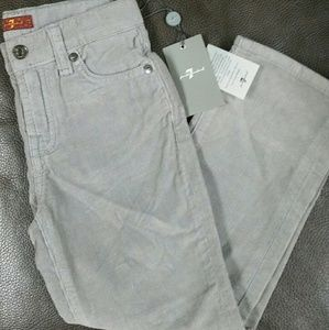 Stylish pair of Seven for all Mankind corduroy 4T